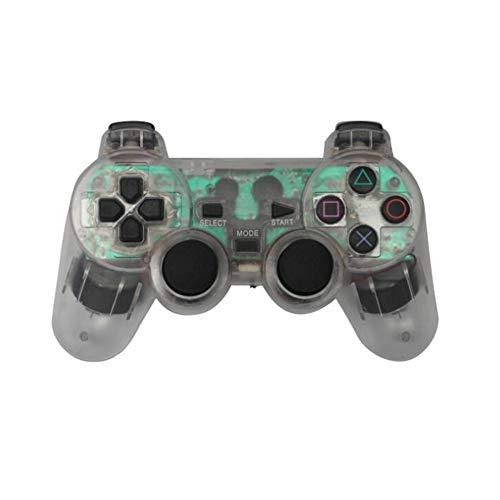 PS2 Wireless Controller, Wireless Gamepad PC-Controller Transparente Gamepad mit LED-Leuchten für PS2