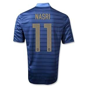France Euro 2012 Nasri #11 (size S) home soccer jersey Fußball hemd trikot football shirt camiseta maillot