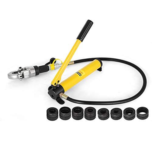 Mophorn 6T Manuelle Hydraulische Zangen Handpresswerkzeug Set Hydraulisches Presswerkzeug für 0,6-1,6 Zoll U/TH-Rohr (U/TH-Rohr 16-32mm) -