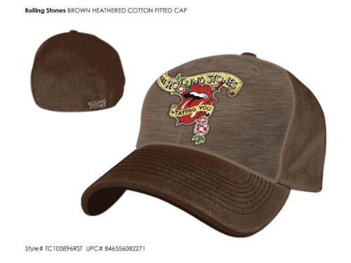 Rolling Stones - Brown Fitted Baseball Cap (Fitted Cap Brown)