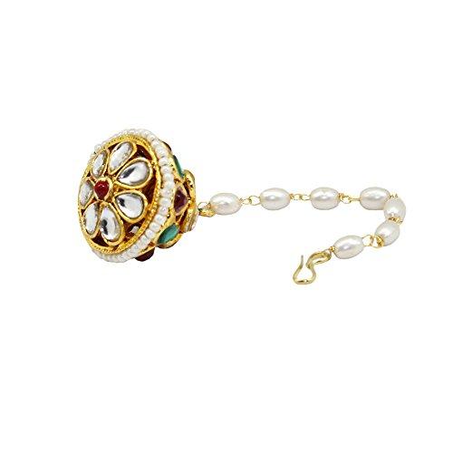 Frabjous Traditional Golden Plated Mangtika/Borla Jewellery for Women Diwali Gift for Women