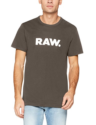G-STAR RAW Herren T-Shirt Holorn R T S/S Grau (Gs Grey 1260)