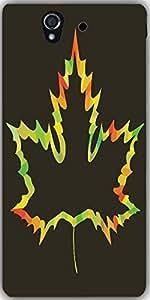 Snoogg Maple Leaf Design On White Designer Protective Back Case Cover For Son...