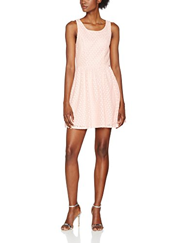 ONLY NOS Damen Kleid Onlline Fairy Lace Dress Wvn Noos, Rosa (Peachy Keen), 34 (Nylon Flare Rock)