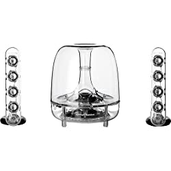 Harman Kardon Soundsticks III - Système de haut-parleur filaire 2.1 - Transparent
