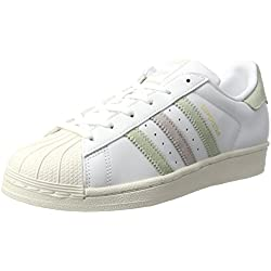 adidas Superstar W, Zapatillas para Mujer, Blanco (Ftwwht/lingrn/Ice Pur), 36 2/3 EU