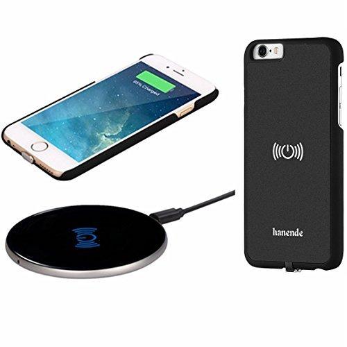 Wireless Ladegerät-Set, Hanende HD900Qi Wireless Charging Pad und Wireless-Empfänger Schutzhülle für iPhone 6/6S (AC Adapter nicht im Lieferumfang enthalten)... (Phone I Adapter Ac)