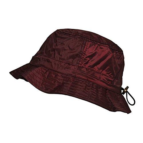 toutacoo-bob-de-pluie-impermeable-en-nylon-ajustable-bordeaux-couleur-rouge