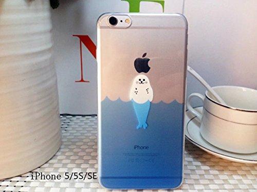Cover iPhone 6 Plus Custodia telefono creativo trasparente silicone Guscio morbido Anti Graffio Copertura protettiva Anti-polvere paraurti Si applica a iPhone 6/6S Plus(5.5) disegno-17