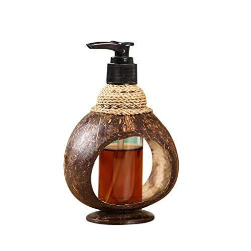 Portasapone Bottiglia della pompa dell'erogatore del sapone liquido riutilizzabile, sapone per le mani della tenuta, sapone per piatti, prodotto disinfettante della mano, olii essenziali, fatti da noc