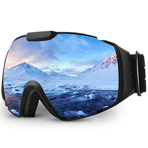 Juli® Skibrille,Verspiegelt für Herren Damen Anti Nebel UV Schutz