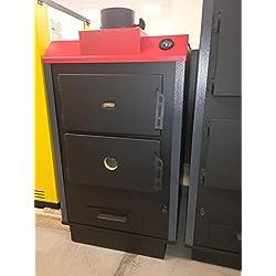 35kW solide Multi chaudière à combustible Prity SLB NL Gravure sur bois Granulés de bois/charbon/