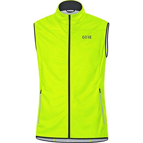 GORE Wear Winddichte Herren Laufweste, GORE R5 GORE WINDSTOPPER Vest, Größe: XL, Farbe: Neon-Gelb, 100154
