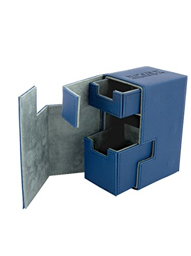 Ultimate Guard UGD010224 - Flip und Tray Deck Case 80+, Xeno Skin, Standardgröße, blau Blau Tray