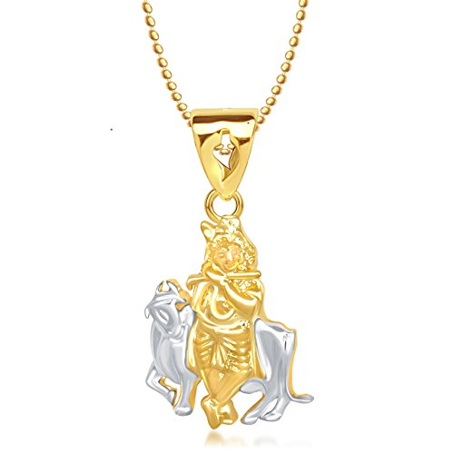 Meenaz Shri Krishna God Pendant Gold Plated Cz In American Diamond With Chain For Men & Women,Girls Gp165  available at amazon for Rs.249
