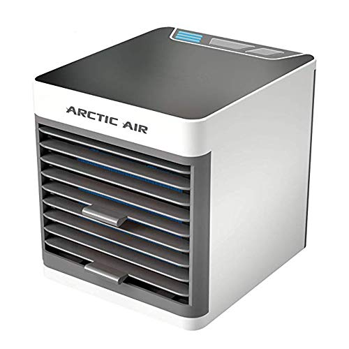Luftkühler, Mini-Luftkühler, USB-Mini-Kühlklimaanlage Tragbarer Desktop-Lüfter Luftkühler und Luftbefeuchter Luftreiniger für Office Home