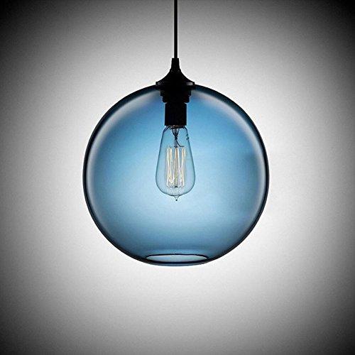 Cozyle Pendentif Vintage suspension à lumière en verre Blue Shades