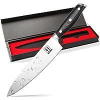 Allezola 21cm Profesional Cuchillo de Cocinero, Cuchillo de Cocina Acero al Carbono Inoxidable de Alta Calidad Alemán