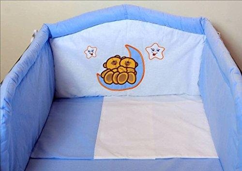 Parure de lit 3 pièces pour bébé incluant un tour de lit, une taie d'oreiller et une housse de couette, avec plus de 35 designs dans toutes les tailles, convenant à de petits et grands lits de bébé