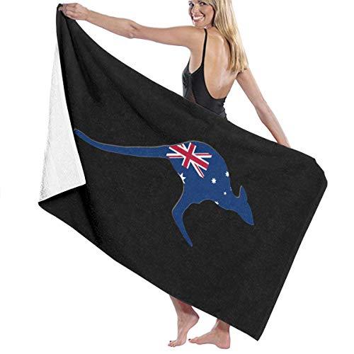 Best Girl Teen Kostüm - Poikl Beach Towels Australian Flag Kangaroo Bath Towels for Teen Girls Adults Travel Towel Washcloth 31x51 Inches