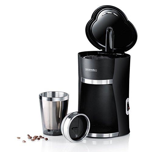 Arendo-1-Cup-Schnellkoch-Kaffeemaschine-To-Go-mit-300ml-Thermo-Becher-Leistungsaufnahme-420W-permanenter-Nylonfilter-herausnehmbar-fr-aromatischen-Kaffee-LED-Kontrollleuchte-am-Ein-Aus-Schalter-doppel