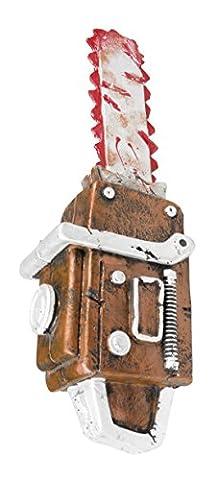 erdbeerclown - Kostüm Accessoire blutverschmierte Kettensäge Horror Halloween, 53cm, Mehrfarbig (Blutige Kettensäge)