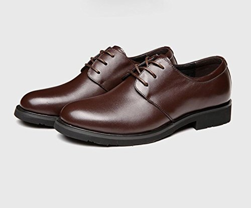 GRRONG Chaussures En Cuir Pour Hommes Daffaires Respirant Loisirs brown