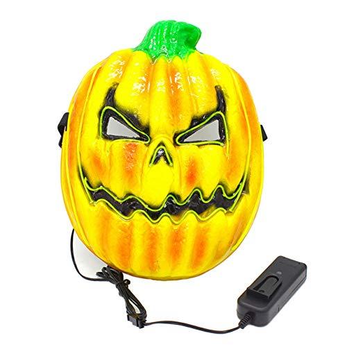 Hankyky Halloween Leucht Kürbis Maske EL Draht Maske Blinkende Cosplay LED Maske Scary Leuchtende Maske Für Dance Festival Parteien Kostüm