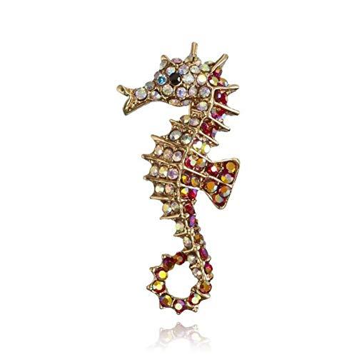 LSTDD Brosche Retro Gold Und Silber Metall Elch Glück Tier Kostüm Mode Herrenbekleidung Weibliche Ornament Schal Zubehör - Weibliches Tier Kostüm