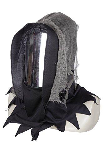 Wilbers Kostüm Zubehör Maske Spiegel Gesicht Halloween Geist Gespenst ()