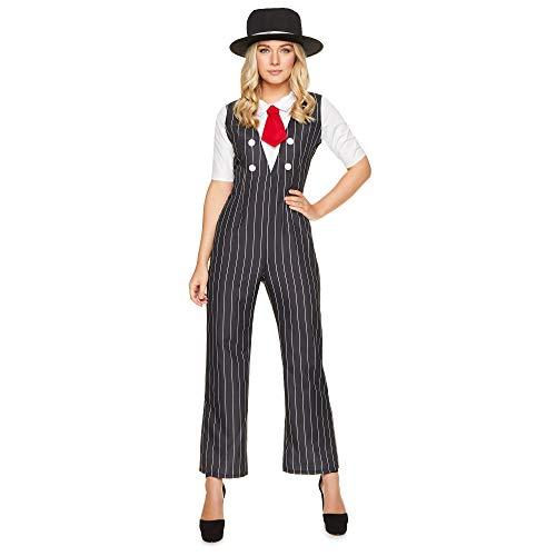 Karnival 812271920's Gangster Girl Kostüm, Frauen, Schwarz, ()