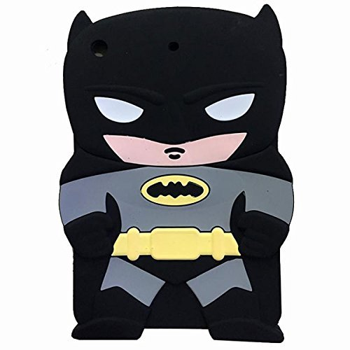 iPad Mini Fall , Phenix-Color 3D Cute Soft Silikon [Drop Proof, stoßfest, Rutschfeste] Cartoon Gel Gummi Back Cover Case für iPad Mini 1 2 3 Batman