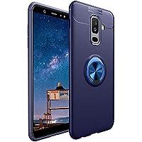 CESTOR Handyhülle für Samsung A6 Plus 2018 [mit 360°Grad Drehbarer Ringhalter Fingerhalter],Luxus Ultra Dünn Weich Flexibel TPU Silikon HandyHülle für Samsung Galaxy A6 Plus 2018,Blau