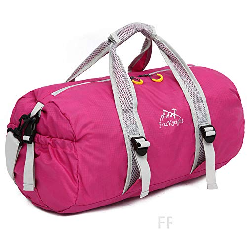 n Wasserdicht Nylon Handtasche Crossbody Bag Fitnessraum Rose ()