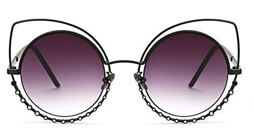 Sucatle Das neue, Metall, Sonnenbrille weiblichen Star Modelle, Luxus, Diamant, Katzenauge, Sonnenbrillen, rundes Gesicht, Brille Sucatle