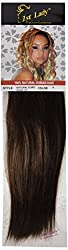 1st Lady Silky Straight Natural European Weft Human Hair Extension with Premium Blend Weave, Number 4, Chocolate, 10-Inch