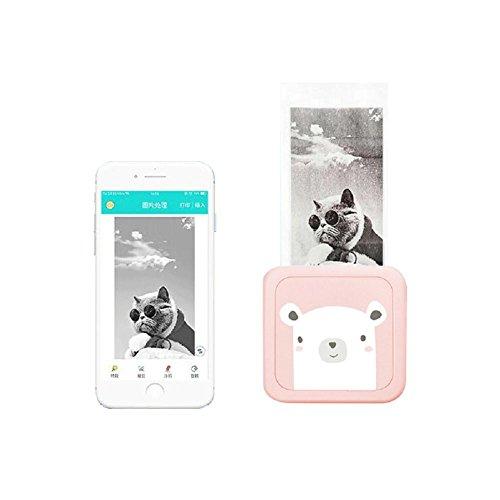 KOBWA Wireless Fotos Drucker Mode Mini Portable Bluetooth Phone Fotos Thermodrucker für Tickets Fotos DIY - Bluetooth Portable Foto-drucker