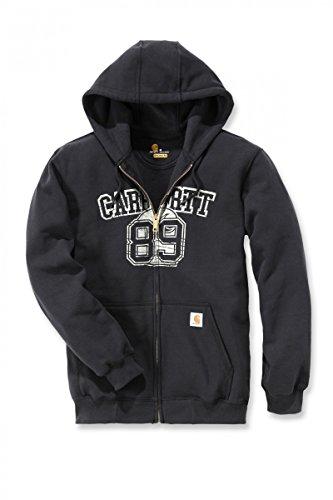 Carhartt Zip-Front Sweatshirt Hooded Shirt 102628 Schwarz