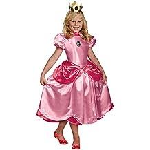 Disfraz Princesa Peach Deluxe niña 10-12 años (140/152)