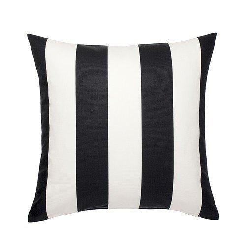 IKEA VARGYLLEN Kissenbezug in schwarz/weiß; 100% Baumwolle; (50x50cm) (Ikea Kissenbezüge)