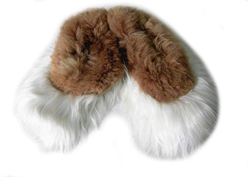 Alpacaandmore Weiß Braune Unisex Hausschuhe Surialpaka Fell (36)