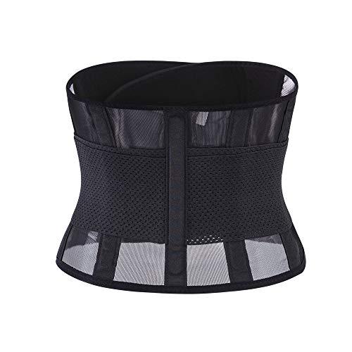 Quaan-Frau Kleider Unsex Fitnessgürtel Schwitzgürtel zur Fettverbrennung Taille Trimmer Gürtel Rückenstütze Einstellbare Bauch Elastische Taille Trainer Sanduhr ()