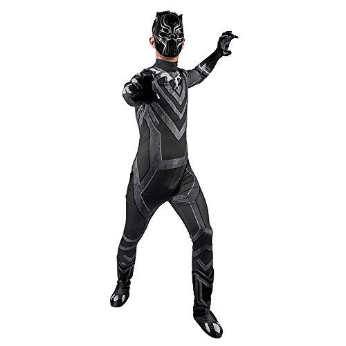 Hope Avengers 4 Black Panther Kostüm, Kinder Männer Jungen Superheld Siamese Strumpfhosen Cosplay Outfit Halloween Kleidung Zentai Movie Party Overall,Child-M (Für Jungen Superhelden-outfits)