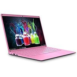 PC-Ordinateur Portable Windows-10 14.1 Pouces Intel HD Graphics Laptop Intel Atom Z8350 1920x1080 Pixels Notebook, 2Go RAM 32Go ROM WiFi Double Bande Batteria 5000mAh V Mobile P16 (Rose)