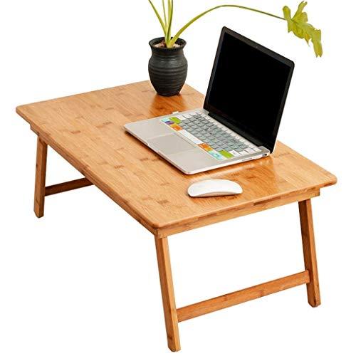 KJRJZDZ Bambus Bett Tablett mit klappbaren Beinen, Schoß Tablett mit Tischplatte Ideal zum Frühstück im Bett oder Abendessen am Fernseher, als Schoß Zeichentisch oder als Essbrett