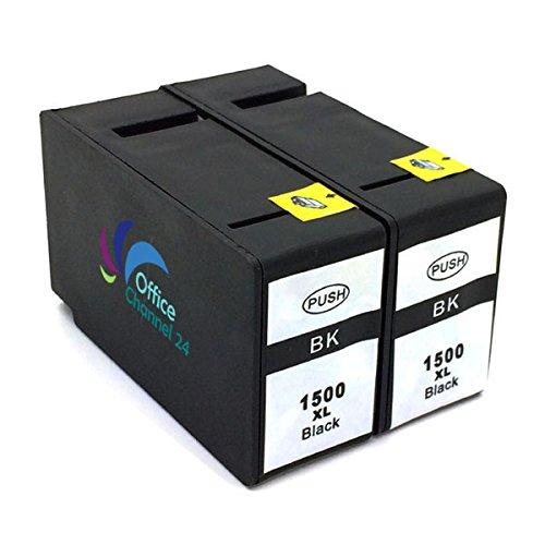 2 x cartuchos de tinta equivalentes a PGI-1500 XL para Canon Maxify MB 2050 MB 2350