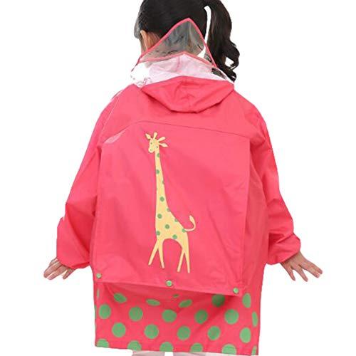 Hibote Enfants Bande Dessinée Capuchon Pluie Manteau Imperméable Imperméable avec Easy Carry Pouch Garçons Filles
