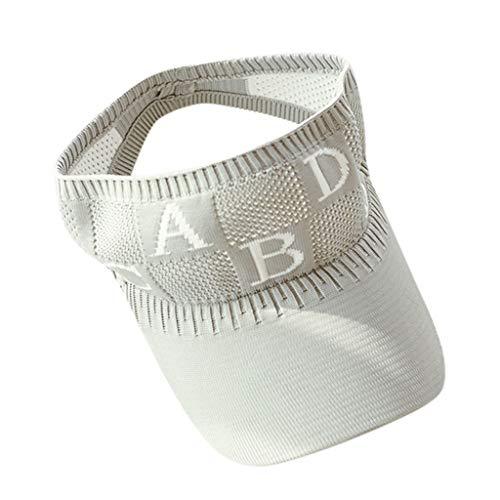 e707dff5316504 LLonGao Frauen-Damenhut Im Freien Verstellbare Kappe Sommer Sonnencreme Sun  Brief Hut Mütze Brief Stickerei