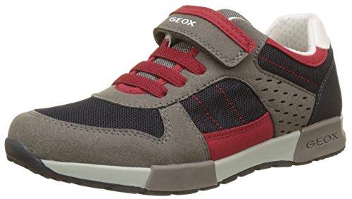 Geox Jungen J Alfier Boy A Sneaker, Blau (Navy/Dk Red), 39 EU