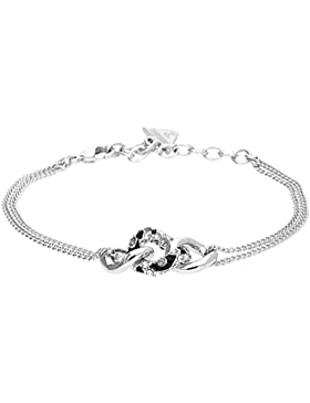 Guess Damen-Armband Messing Glas weiß - UBB21581